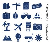 solid tour and travel icon set... | Shutterstock .eps vector #1290350317