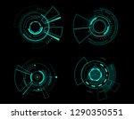 vector icon set technology... | Shutterstock .eps vector #1290350551