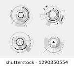 vector icon set technology... | Shutterstock .eps vector #1290350554