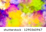 abstract colorful watercolor... | Shutterstock . vector #1290360967
