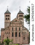 Small photo of Roman abbey of Murbach, church of Saint Leger. In Alsace France