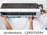 disassemble and clean air... | Shutterstock . vector #1290376594
