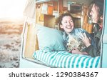 couple of travel bloggers... | Shutterstock . vector #1290384367