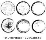 grunge circle frames | Shutterstock .eps vector #129038669