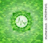 electrocardiogram icon inside... | Shutterstock .eps vector #1290394141