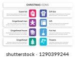 set of 8 white christmas icons... | Shutterstock .eps vector #1290399244
