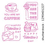 valentines greeting badge in... | Shutterstock .eps vector #1290401227