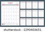 calendar planner for 2019 year. ... | Shutterstock .eps vector #1290403651