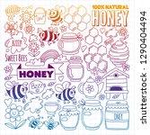 vector image of bees  organic... | Shutterstock .eps vector #1290404494