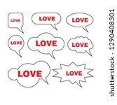 bubble speech with word love   Shutterstock .eps vector #1290408301