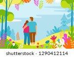 vector illustration in flat... | Shutterstock .eps vector #1290412114