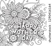 happy mother's day coloring...   Shutterstock .eps vector #1290416164