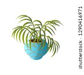 homemade cute home plant in a... | Shutterstock .eps vector #1290416971