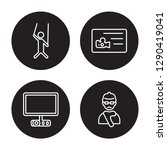 4 linear vector icon set  ... | Shutterstock .eps vector #1290419041