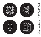 4 linear vector icon set  ... | Shutterstock .eps vector #1290419044