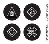 4 linear vector icon set  ...   Shutterstock .eps vector #1290419101