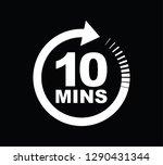 ten minutes icon | Shutterstock .eps vector #1290431344