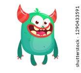 cartoon funny monster.... | Shutterstock .eps vector #1290433591