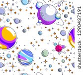 space seamless background with... | Shutterstock .eps vector #1290437191