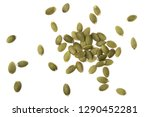 pumpkin seeds isolated on white ... | Shutterstock . vector #1290452281