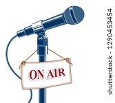 stage microphone vector... | Shutterstock .eps vector #1290453454