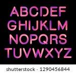 flexible tube neon 3d gradient...   Shutterstock .eps vector #1290456844