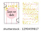bridal shower card with dots... | Shutterstock .eps vector #1290459817