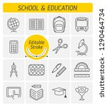 the school and education... | Shutterstock .eps vector #1290464734