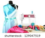 sewing machine  dummy and other ... | Shutterstock . vector #129047519