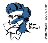johann strauss ii engraved... | Shutterstock .eps vector #1290476284