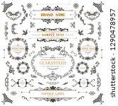set of vintage decorations... | Shutterstock .eps vector #1290478957