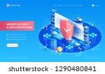 website security and data... | Shutterstock .eps vector #1290480841