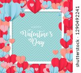 happy valentines day greetings   Shutterstock .eps vector #1290492241
