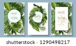 vector wedding invitation card... | Shutterstock .eps vector #1290498217