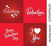 valentines day  typography... | Shutterstock .eps vector #1290499624