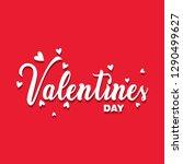 valentines day  typography... | Shutterstock .eps vector #1290499627