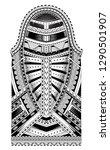 polynesian style tattoo. full... | Shutterstock .eps vector #1290501907