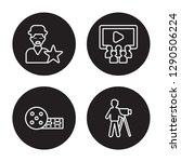4 linear vector icon set  ... | Shutterstock .eps vector #1290506224