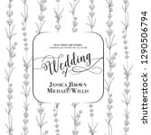 wedding invitation with blossom ... | Shutterstock .eps vector #1290506794