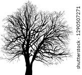 illustration with bare tree... | Shutterstock .eps vector #1290507271