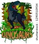 tyrannosaurus on the background ... | Shutterstock .eps vector #1290510934