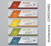 design clean number banners... | Shutterstock .eps vector #1290519481