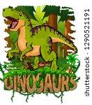 tyrannosaurus on the background ... | Shutterstock .eps vector #1290521191