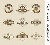 bakery logos and badges design... | Shutterstock .eps vector #1290525757
