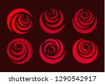 red rose  flower abstract... | Shutterstock . vector #1290542917