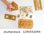 child's hands decorating a... | Shutterstock . vector #1290552094