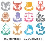 zodiac vector signs  set of... | Shutterstock .eps vector #1290552664