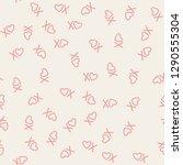 xoxo brush lettering signs... | Shutterstock .eps vector #1290555304