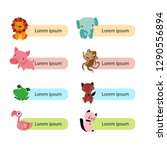 printable animals character... | Shutterstock .eps vector #1290556894