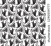 gothic floral seamless pattern. ... | Shutterstock .eps vector #1290559777